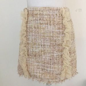 Dresses & Skirts - Pale pink tweed mini skirt